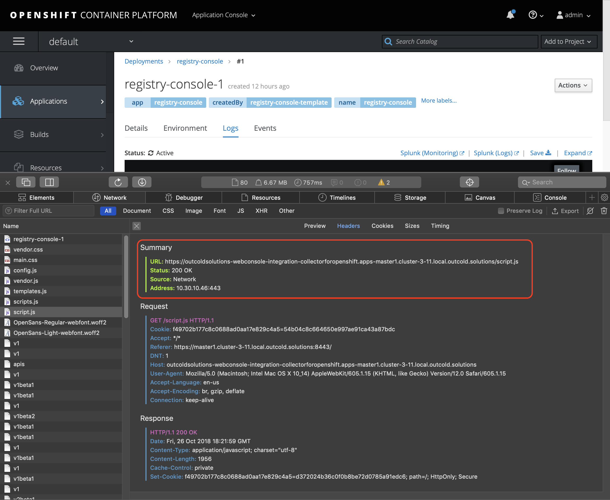 OpenShift Web Console with Development Console